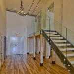 Entrance and stairs to mezzanine, Suite 334.