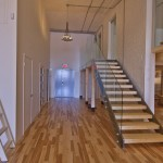 Entrance, stairs and mezzanine, Suite 334.
