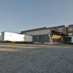 The loading docks on the east side of 3700 Saint Patrick.