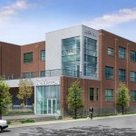 Artist's rendering of the new Aberton Lofts main entrance, opening June 2012.